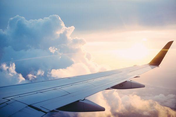 飛行機から見た外の風景