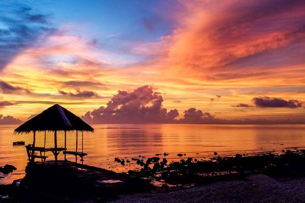 セブ島の夕景