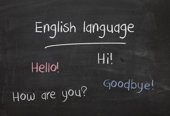 黒板に書かれた英単語