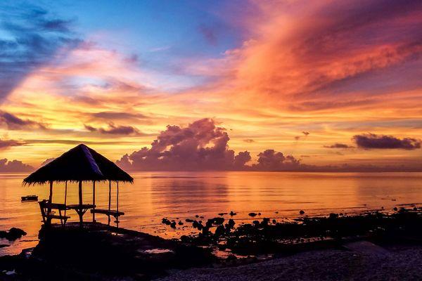セブの海と夕焼け