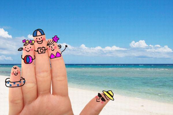 海への家族旅行のイメージ