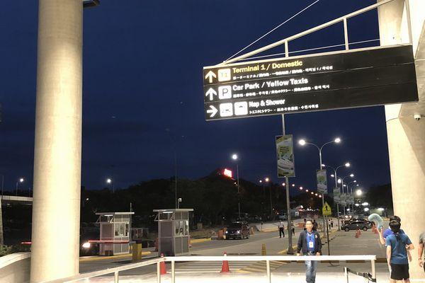 セブマクタン国際空港第2ターミナルの出口