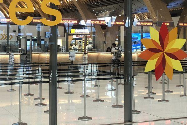 セブマクタン国際空港第2ターミナルの出国検査場