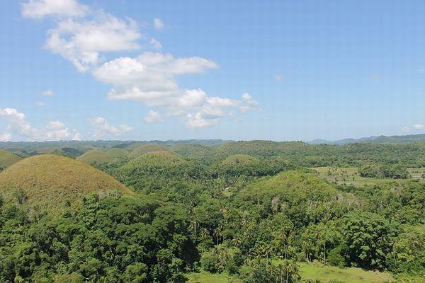 フィリピン ボホール島のチョコレートヒルズ
