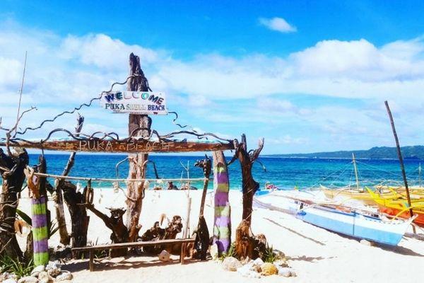 フィリピン・ボラカイ島のプカシェルビーチ