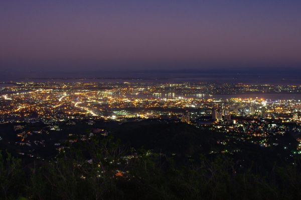 フィリピン セブ島のトップスからの夜景
