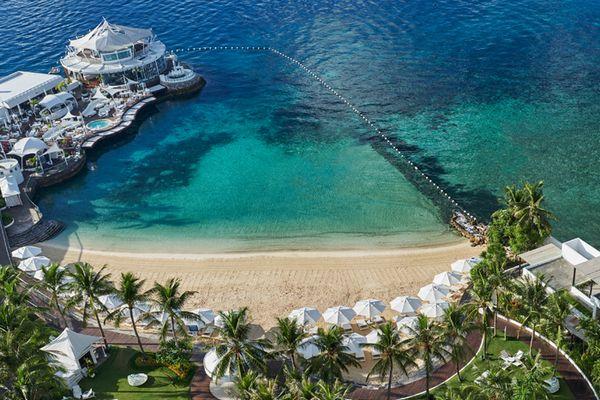 モーベンピック・ホテル・マクタンアイランド&セブのプライベートビーチ